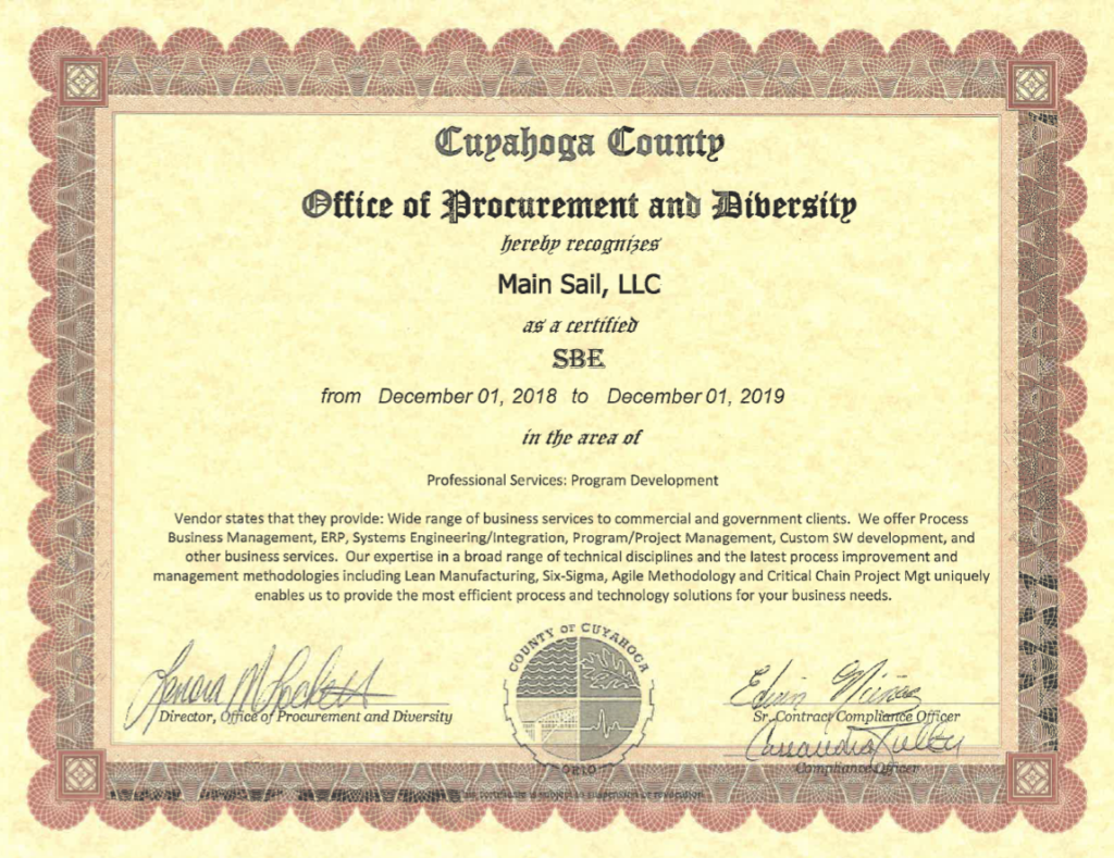 business certification enterprise